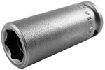 APEX MB-13MM23 13mm Long Impact Socket, Magnetic Bolt Clearance, 3/8'' Square Drive