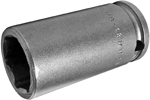 APEX MB-18MM23 18mm Long Impact Socket, Magnetic Bolt Clearance, 3/8'' Square Drive