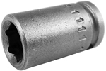 MX-1111 Apex 11/32'' X-Hard Magnetic Standard Socket, 1/4'' Square Drive