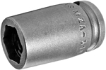 MZA-314 3/8'' Apex Brand Straight Grease Fitting Socket, Magnetic