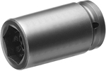 MZA-514 1/2'' Apex Brand Straight Grease Fitting Socket, Magnetic