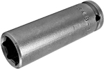 APEX OSMB-10MM21 10mm Long Impact Socket, Magnetic, 1/4'' Square Drive
