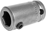 APEX SC-314 Bit Holder 7/16 to 3/8 Adapter With Set Screw Pin, 1/4'' Square Drive