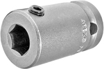 APEX SC-514 Bit Holder 7/16 to 1/2 Adapter With Set Screw Pin, 1/4'' Square Drive