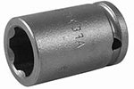 APEX SF-10MM11 10mm Standard Impact Socket, Surface Drive, 1/4'' Square Drive