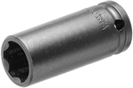 APEX SF-10MM21 10mm Long Impact Socket, Surface Drive, 1/4'' Square Drive