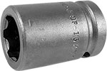 APEX SF-16MM15 16mm Standard Impact Socket, Surface Drive, 1/2'' Square Drive