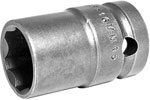 APEX SF-16MM45 16mm Standard Impact Socket, Surface Drive, Thin Wall, 1/2'' Square Drive