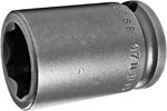 SF-17MM13 Apex 17mm Surface Drive Metric Standard Socket, 3/8'' Square Drive