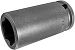 APEX SF-17MM23 17mm Long Impact Socket, Surface Drive, 3/8'' Square Drive