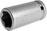 APEX SF-19MM25 19mm Long Impact Socket, Surface Drive, 1/2'' Square Drive