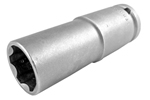 APEX SF-19MM55 19mm Extra Long Impact Socket, Surface Drive, Thin Wall, 1/2'' Square Drive