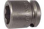 APEX SF-3016 1/2'' Short Impact Socket, Surface Drive, 3/8'' Square Drive