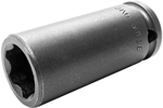 APEX SF-3218 9/16'' Long Impact Socket, Surface Drive, 3/8'' Square Drive