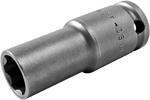 SF-3514 Apex 7/16'' Surface Drive Thin Wall Long Socket, 3/8'' Square Drive