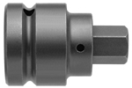 APEX SZ-101-A 1 1/4'' Socket Head Bits With Drive Adapters, 1'' Drive