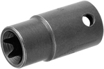 APEX TX-3406 E-6 Standard Torx Socket, For External Torx Screws, Thin Wall, 3/8'' Square Drive