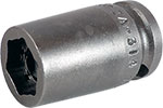 ZA-314 3/8'' Apex Brand Straight Grease Fitting Socket