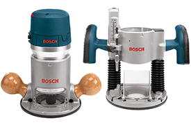 1617EVSPK BOSCH 2.25 HP Plunge & Fixed-Base Router Combo Kit