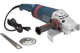 1893-6 Bosch 9'' Large Angle Grinder, 15 Amp w/ Lock-on Trigger Switch