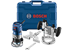 GKF125CEPK Bosch 1.25 HP Variable Speed Palm Router Combo Kit w/LED