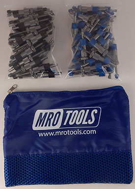 SEL3S100-4 No-Mar 50 3/16'' & 50 5/32'' Sheet Metal Fasteners Kit w/ Carry Bag