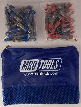 SEL3S50-6 No-Mar 25 5/32'' & 25 3/32'' Sheet Metal Fasteners Kit w/ Carry Bag