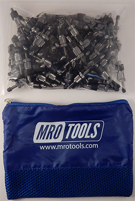 SSL2S100-3/16 No-Mar 3/16'' Sheet Metal Fasteners 100 Piece Kit w/ Carry Bag