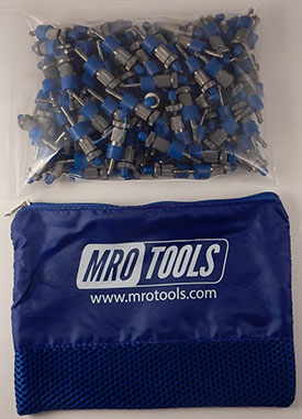 SSL2S100-5/32 No-Mar 5/32'' Sheet Metal Fasteners 100 Piece Kit w/ Carry Bag