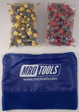 SSL3S100-3 No-Mar 50 1/8'' & 50 3/32'' Sheet Metal Fasteners Kit w/ Carry Bag