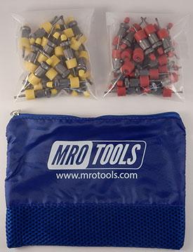 SSL3S50-3 No-Mar 25 1/8'' & 25 3/32'' Sheet Metal Fasteners Kit w/ Carry Bag