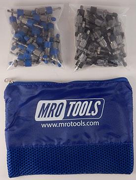 SSL3S50-4 No-Mar 25 3/16'' & 25 5/32'' Sheet Metal Fasteners Kit w/ Carry Bag
