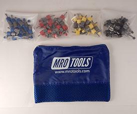 SSL5S40 No-Mar Sheet Metal Fasteners 50 Piece Kit w/ Carry Bag