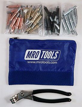 MRO TOOLS K5S40 Begineer Cleco Sheet Metal Fastener Kit w/ Mesh Carry Bag