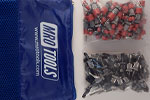 SSL3S100-5 No-Mar 50 3/16'' & 50 3/32'' Sheet Metal Fasteners Kit w/ Carry Bag