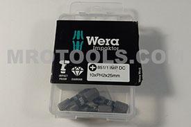 05057616001 WERA (Pack of 4) 851/1 #2 IMP DC Impaktor Phillips 1/4'' Hex Insert Bit - FLASH SALE