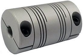 Helical DSAC100-12-8 Double Start Flexible Beam Coupling, DS Series