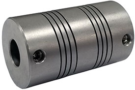 Helical MC7125-16-10 Flexible Stainless Steel Coupling, MC7 Series