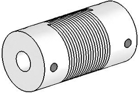 Helical UJ7075-30-8-8 Flexured U-Joint, Stainless Steel