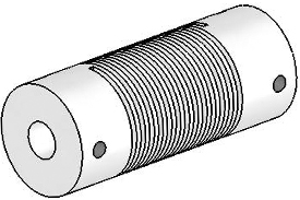 Helical UJ7075-45-8-8 Flexured U-Joint, Stainless Steel