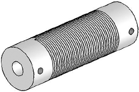 Helical UJ7075-90-8-8 Flexured U-Joint, Stainless Steel