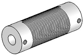 Helical UJ7100-90-10-10 Flexured U-Joint, Stainless Steel