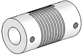 Helical UJ7125-30-12-12 Flexured U-Joint, Stainless Steel