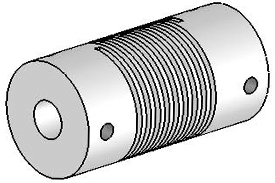 Helical UJA075-30-8-8 Flexured U-Joint, Aluminum