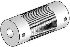 Helical UJA075-45-8-8 Flexured U-Joint, Aluminum