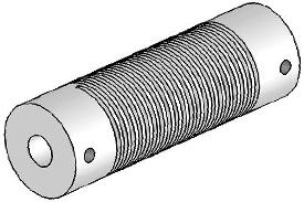 Helical UJA075-90-8-8 Flexured U-Joint, Aluminum