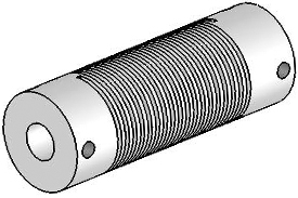 Helical UJA100-90-10-10 Flexured U-Joint, Aluminum