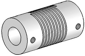 Helical UJA125-30-16-16 Flexured U-Joint, Aluminum