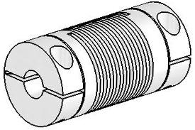 Helical UJAC075-30-6-6 Flexured U-Joint, Aluminum