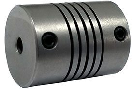 Helical W715-4mm-4mm Flexible Stainless Steel Coupling, W Series